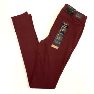 NWT CELEBRITY PINK Juniors Burnt Red Skinny Jeans